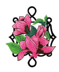 4X4 Floral Embroidery Design 153