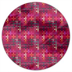 Uneekee Abstract Flowerbed Round Tablecloth