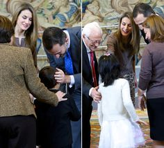Los Príncipes de Asturias, cercanos y cariñosos con los más pequeños #realeza #casareal #royals #royalty