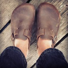 BIRKENSTOCK BOSTON, just got a pair like these, love!