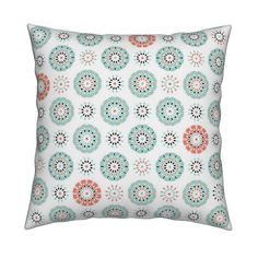 Catalan Throw Pillow featuring Celebrate Mint by inscribed_here | Roostery Home Decor