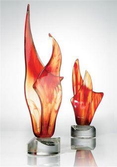 Amber Flame Art Glass