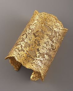 Lace Cuff, Gold  by Aurelie Bidermann