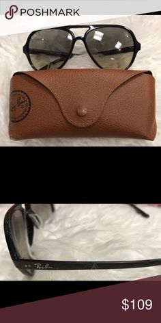 Ray-ban CATS 5000 Excellent condition - lightweight frame - grey gradient lenses - minor scratches on lenses - Price firm no trades - buy for less & more pics at www.chicboutiqueconsignments.com! MA's #1 designer consignment boutique! Ray-Ban Accessories Sunglasses