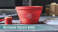 The Microwave Popcorn Maker. Make air-popped popcorn in just a few minutes! Control the amount of butter and seasonings. www.pamperedchef.biz/dietitian for more info  Pampered Chef
