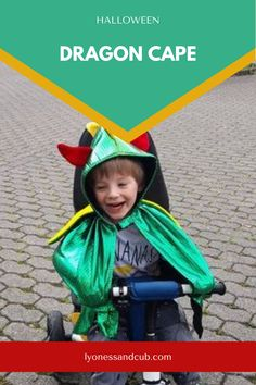 [Ad] Whether it's Halloween or Carnival, this cute and glittery Great Pretenders dragon cape is a looker! My son didn't even want to take it off when we went on rides with his trike. He was a riding dragon scaring people with his roars ;) Scaring People, Dragon Costume, Little Dragon, Son Love, How To Train Your Dragon, Pretend Play, Toddler Toys, Pre School, Big Kids