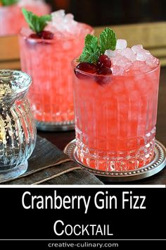 This is my favorite cocktail from the beginning of Fall all the way through the Holidays. So pretty and festive and with fantastic seasonal flavors, the Cranberry Gin Fizz Cocktail does not disappoint! via @creativculinary