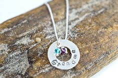 Grandma's Necklace with birthstones by justbujewelry on Etsy, $36.00