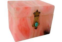 Pink Alabaster Box