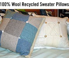 Patchwork sweater cushions