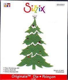 Sizzix Original Die  Christmas Tree 2 by SandyO14 on Etsy