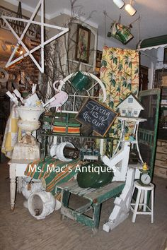 Vintage Spring Decorating  @Ms. Mac's Antiques - Carver, MN store