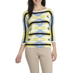 Evolution by Cyrus Women's Print Sweater (-S)