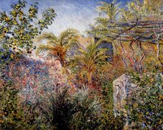 """The Valley of Sasso, Bordighera"" by Claude Monet ・ 1884 ・ Style: Impressionism ・ Genre: landscape"
