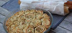 Feta-knoflookbrood met Griekse garnalen
