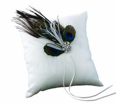 Ivy Lane Design Peacock Collection Ring Pillow, White by Ivy Lane Designs, http://www.amazon.com/dp/B0050AY484/ref=cm_sw_r_pi_dp_dGQ8rb09AQHPM