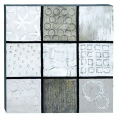 Woodland Imports Silver Abstract Canvas Art on Wood - 40W x 40H in. - 54572