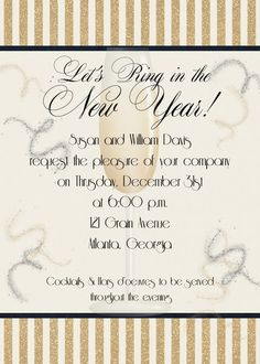 lets ring in the new year invitation sugar and spice invitations
