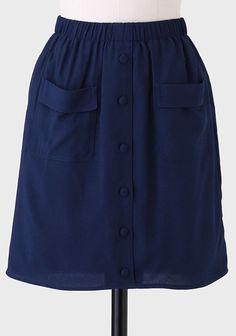 Shelby Pocket Skirt In Navy