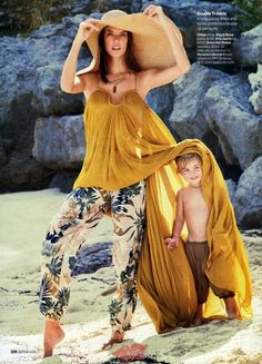 """Wild Things"" Alessandra Ambrosio and her kids by Patrick Demarchelier for Glamour US April 2015"