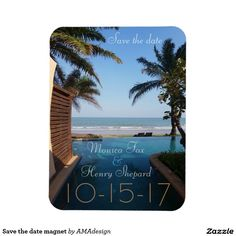 Shop Beach Save the Date Postcard created by AMAdesign. Personalize it with photos & text or purchase as is! Beach Invitations, Zazzle Invitations, Invitation Design, Invitation Ideas, Save The Date Magnets, Save The Date Postcards, Save The Date Cards, Beach Cards, Photo Magnets
