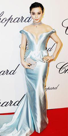 Fan Bingbing in silver Ulyana Sergeenko in Cannes 2013