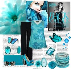 """blue"" by dgia ❤ liked on Polyvore"