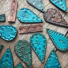 Just waiting to be earrings for your pretty ears. There's something about deep, earthy brown and turquoise paired that is fetching. These…