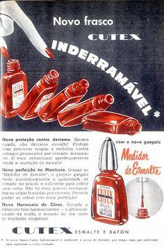 Propaganda dos Esmaltes Cutex nos anos 50.