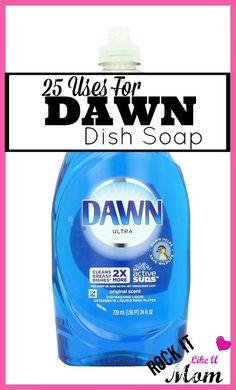 Many people know they can use Dawn Dish soap for cutting through all kinds of grease, but did you know it could actually unclog a toilet, or be used as a sidewalk de-icer?