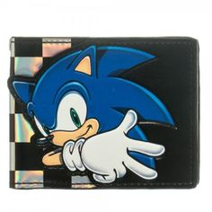 Sonic The Hedgehog Checkered Bi Fold Wallet
