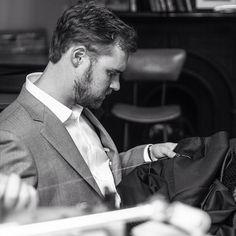 Head Tailor O.Lake hand finishing your garments. #oscarhunt #tailoring #gentlemanstyle #mnswr #menswear #mensstyle #sartorial
