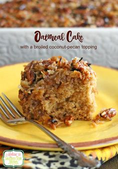 Oatmeal Cake With A Broiled Coconut-Pecan Topping - This is one of those cakes that are suitable to be served as a coffee cake, for brunch, tea, or as a dessert. The decadent topping is what sets this cake apart and takes it over-the-top. Oatmeal cake is one of those vintage cake recipes that needs to be preserved. Why? Because it's so darn delicious!