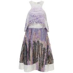 Prabal Gurung Silk Felted Bi-Level Dress (101,610 DOP) ❤ liked on Polyvore featuring dresses, silk dress, strapless silk dress, sporty dresses, prabal gurung and embellished dresses