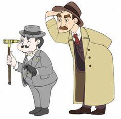 Poirot and Inspector Japp