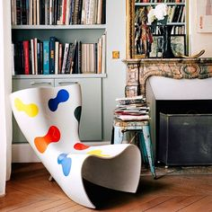 #tbt Paris flat of #GiambattistaValli in #Vogue 2014, and this #MarcNewson Felt chair for #Cappellini, circa 1993.