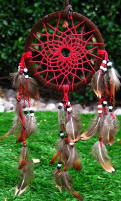 Mini Red Dream Catcher by FollowYourDreams18 on Etsy