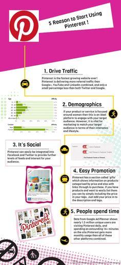5 razones para comenzar a usar Pinterest #infografia #infographic #socialmedia