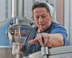 Sister Doris Engelhard, a nun and brewmaster at Mallersdorf Abbey, where beer was first produced in the 12th century by Benedictine monks. // photo by Peter Von Felbert