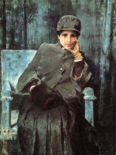 Meditation (aka Portrait of the Artist's Wife), 1885-86 // by William Merritt Chase
