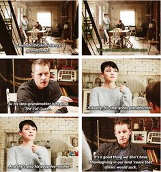 Once Upon a Time family drama. This was seriously one of the funniest moments in OUaT history.