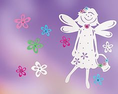 Fensterbild basteln: Blumenfee - Familie.de