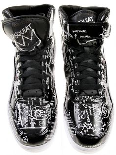 reebok x basquiat   whoa! I don't really wear sneakers, but I would totally wear these!!!