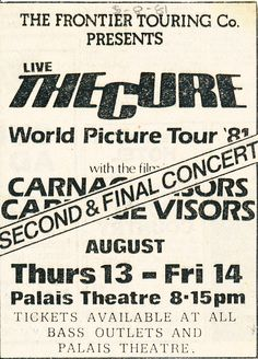 """The Cure - Faith + """"Carnage Visors"""" Simon's brother's movie.  Carnage Visors audio track was available only on the Faith cassette !"""