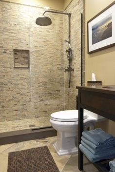 Shower should be the most relaxing areas of your home. Visit Westside Tile to look at shower tile, shower floor tile and shower wall tile. Bad Inspiration, Bathroom Inspiration, Ideas Baños, Tile Ideas, Reno Ideas, Douche Design, Bathroom Renos, Bathroom Ideas, Basement Bathroom
