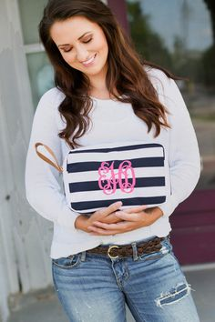 Hey, I found this really awesome Etsy listing at https://www.etsy.com/listing/249803541/monogrammed-navy-stripes-cosmetic-bag