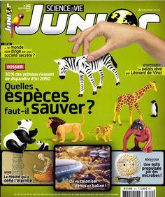 Science&Vie Junior n°312 : 30% des espèces risquent de disparaître d'ici 2050, quelles espèces faut-il sauver ?