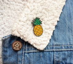 Pineapple pin  trendy enamel pineapple pin by thehippyhipster