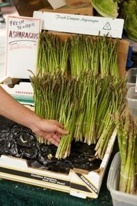 Learn how to grow asparagus: http://www.vegetable-garden-guide.com/planting-asparagus.html