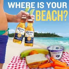 Find you beech, and then find a great lunch to enjoy while you're on it, PB&J, of course.